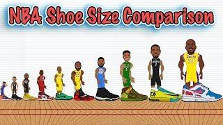 The Best NBA Player at Every Shoe Size! (NBA Shoe Size Comparison Animation)
