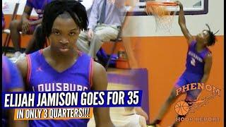 Elijah Jamison COOKS for 35 in ONLY 3 Quarters ... FULL Louisburg RAW Game Highlights