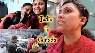 India to Canada Vlog - worst experience ever - Hindi vlog