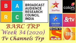 TV Channels TRP of Week 34 2020 | Top 10 Indian TV Channels | Star Plus , Colors Tv , Zee Tv & More