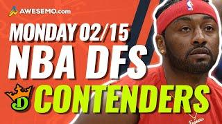 DRAFTKINGS NBA DFS PICKS TODAY | Top 10 ConTENders Mon 2/15 | NBA DFS Simulations