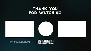 Amazing Top 10 New End Screen Outro Template 2020 // No Copyright