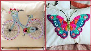 Top 10! Hand Embroidery Pillows/Cushions designs || Top stylish Hand embroidery work on cushions
