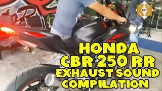 Honda CBR 250 RR The Best Exhaust Sound Compilation, sc project, red muffler,Austin Racing,R9,etc