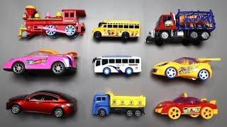 Learning Street Vehicles Name & Number with Transportation Vehicles for Kids - Learn Color with Toys