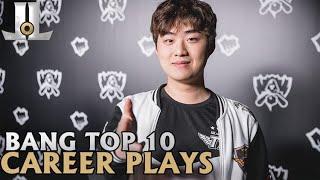 Bang Top 10 Career Plays | Lol esports