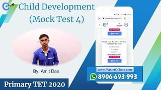 Mock Test 4 | CDP | Top 10 Questions (MCQ) - WB Primary TET 2020 | Master Of Jobs