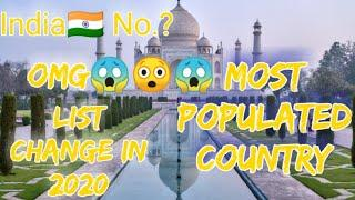 Top 10 Most Populated Country in the world by 2020