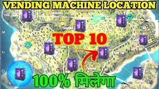TOP 10 VENDING MACHINE LOCATION IN FREE FIRE | VENDING MACHINE LOCATION BERMUDA | FREE FIRE 2021