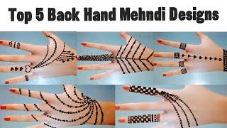 Top 5 Back hand simple mehndi design | Teej mehndi design 2020 back hand | Latest mehndi design Eid