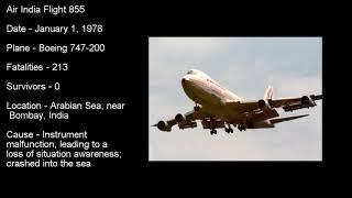 Top 5 deadliest Air India crashes