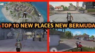 TOP 10 NEW PLACE IN BERMUDA REMASTERED || NEW PLACE BERMUDA 2.0 IN FREE FIRE IN ADVANCE SERVER BYE