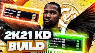 NBA 2K21 KEVIN DURANT BUILD! BEST SHOOTING 6'10 POINT FOWARD BUILD NBA 2K21!