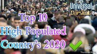 World top 10 populated country 2020.