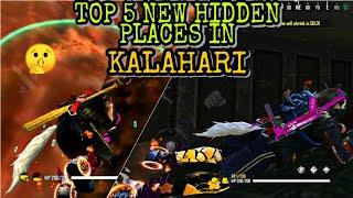 Top 5 new hidden/secret place in kalahari map|hiding place in kalahari|garena free fire hiding place