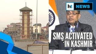 SMS services restored in Kashmir, mobile internet still suspended | Art 370