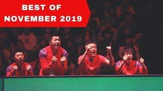 Best Table tennis points November 2019 / Meilleurs points de tennis de table Novembre 2019