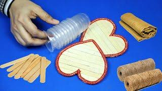Jute craft ideas with best out waste | Easy Home decorating ideas handmade