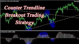 Best Counter Trendline Breakout Trading Strategy|Complete Guide to Trend Line Trading FOREX