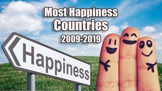 Amazing Top 10 Most Happiest Country In The World 2012-2019 |  World Happiness Report 2020 |  GDP