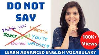 Don't Use These Words in Casual English Conversation | Use Advanced English Vocabulary | ChetChat