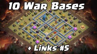 10 War Bases + Links #5   Clash of Clans