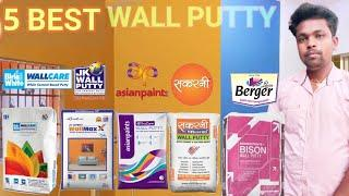 Top 5 Wall Putty Brand's India !! Best Wall Putty Company Sonu painter Samastipur