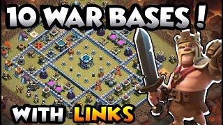 NEW TOP 10 TOWN HALL 13 WAR BASES OF 2020 WITH LINKS - COC BEST TH13 BASE WITH LINK - TH13 WAR BASE