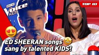TOP 10 | Beautiful ED SHEERAN songs covered in The Voice Kids (part 2)