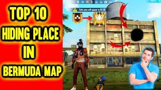 Top 10 Hiding Place in Bermuda , ( Gold to Grandmaster ) - Garena Free Fire - Duos Gaming (DG)