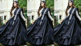 2020's Latest Party Wear Black Outfit Ideas | Black Crop-top Lehenga/Black Gown Designs