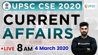 Daily Current Affairs 2020 in Hindi by Sumit Sir | UPSC CSE 2020 | 4 Mar 2020 The Hindu, PIB for IAS
