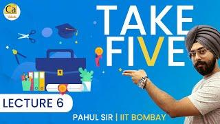 Take FIVE - Episode 6 | Top 5 Advanced Level Questions For JEE Advanced 2020 | Pahul Sir