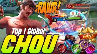 Chou Fast Hand Team work Gameplay Top 1 Global - Mobile Legends Bang Bang