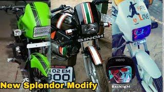 Top 10 Hero Splendor+ Modified Bike Collections Part 2 New Stylish Tapping Facthaters