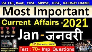 Current Affairs : January 2021   Important current affairs 2021    latest current affairs Quiz