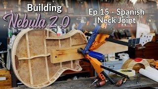 Make a Modern Multi-Scale Electro Acoustic Guitar - Making a CRAZY Spanish Neck Joint Ep 15