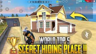TOP 5 GRANDMASTER HIDE PLACE[SECRECT HIDE PLACE]|| FREE FIRE TOP HIDE PLACE || RUN GAMING TAMIL