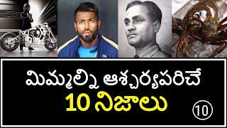 Top 10 Unknown Facts in Telugu | Interesting and Amazing Facts | Part 10 | Minute Stuff