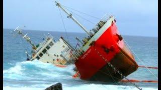 Top 10 Large Ships In Storm! Waves cover sinking ships