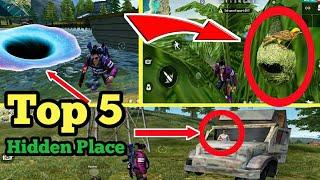 Top 5 Hidden Place Under Water in Free Fire [ Part-5 ] | Garena Free Fire | by The Bong Ninja