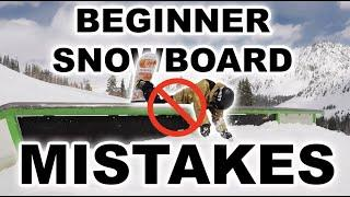 10 Mistakes BEGINNER SNOWBOARDERS Should Avoid!