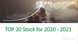 Top 20 Stock for 2020 - 2021 | Long Term Investment | Share Market News