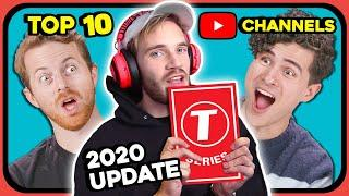 YouTubers React To Top 10 Most Subscribed YouTube Channels Of All Time (January 2020 Update)