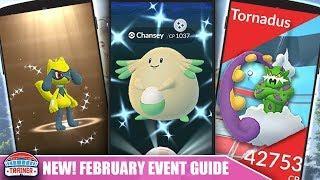 IT'S ON! FEBRUARY EVENT PREP TIPS - SHINY RIOLU, SHINY CHANSEY, TORNADUS, FRIENDS FEST   POKÉMON GO