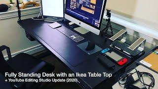 Jarvis Standing Desk by Fully and IKEA Table Top (Custom) | YouTube Editor Setup | Office Setup 2020