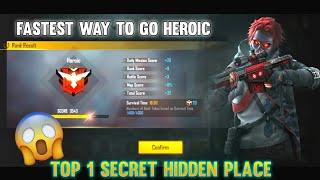 Top 1 Hidden Place - How To Push Rank in Free Fire - Top Hinding Place in Bermuda Map