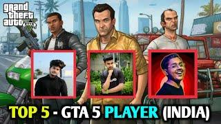 GTA 5 : TOP 5 PLAYER IN INDIA || TECHNO GAMERZ , AK TECHNICAL POINT , TECHNICAL GUYS GAMING