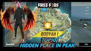 Free fire top 10 hidden place    rank push   