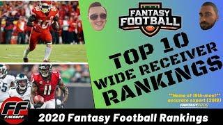 Early Top 10 Fantasy Football Wide Receiver (WR) Rankings 2020